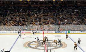 photo of a boston bruins game from the club seats at the td garden