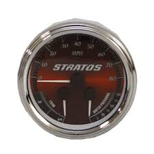 stratos boat parts accessories stratos replacement parts stratos 7e551 red black gray oversized outboard boat multi function gauge 113105 a