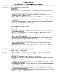 Business In Business Intelligence Analyst Resume Stunning Resume