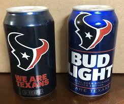 Bud Light Nfl 36 Pack 2017 Houston Texans 2017 Nfl Kickoff Limited Edition Budweiser Bud Light Cans