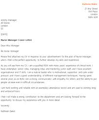 Nurse Manager Cover Letter Example Icover Org Uk