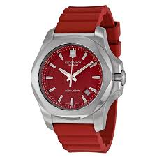 victorinox i n o x red dial red rubber strap mens watch 241719 1 victorinox i n o x red dial red rubber strap mens watch 241719 1