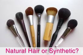 synthetic brushes. natural or synthetic brushes