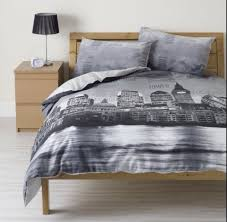 pajamas new york bedding bed linen black and white monochrome new york city