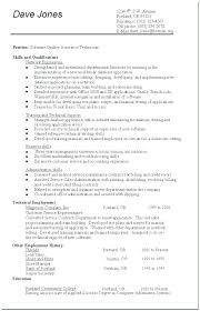 Qa Resume Template Resume Template Quality Assurance Resume Software
