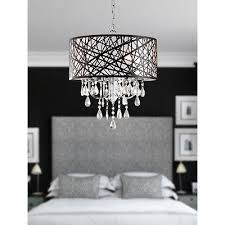1 of 5 modern 4 light crystal glass chandelier contemporary ceiling living room lights