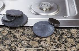 gas stove burner cover. Natural Gas Stove Burner Covers Removed For Cleaning With Pilot Light And Top In Background Cover R