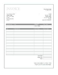 Free Printable Invoices Templates Blank Professional Invoice Word