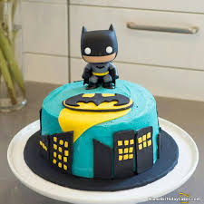 Small Batman Birthday Cake And Batman Shaped Birthday Cake And