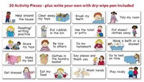 Activity Chart Kids Kids Reward And Star Chart Magnetic Wall Children Activity