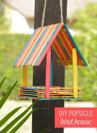 Diy Birdhouse Turn Popsicles Into An Adorable Bird House Babble