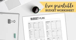 Family Budget Template Free Free Printable Monthly Budget Worksheet Paper Trail Design