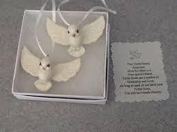 One set of Two boxed Turtle Doves Ornaments the BFF Gift Wedding or  Christmas on Etsy