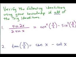 Trig Proofs Series of Videos   Math Help and Homework Help Online     Trig Proof   preview image