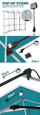 led pop up display lighting offer three kinds of special clamp