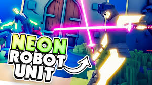 overpowered neon robot faction tabs early access release totally accurate battle simulator