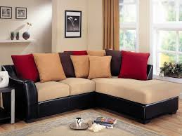Furniture Charming Cheap Sectional Sofas In Cream And Black Plus