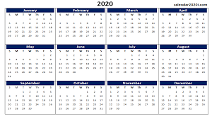 Word 2020 Calendars Blank 2020 Calendar Printable Templates Calendar 2020