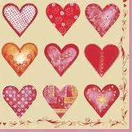 <b>Салфетка</b> для декупажа <b>Daisy</b>, 33х33 Сердца на беж. - купить в ...