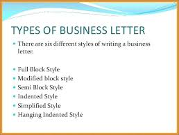 6 Types Of Letter Format Formats Business Letters Trejos Co