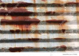 texture rusted corrugated steel