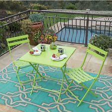 lime green patio furniture. outdoor furniture 3pc steel rectangular patio foldable bistro set lime green