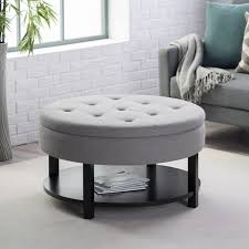 pictures gallery of captivating round upholstered coffee table with endearing round cocktail ottoman best images about lg coffee table