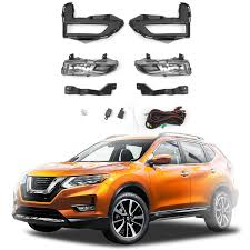 Details About X Trail Fog Light Full Kit W Wring Switch Clear For Nissan Rogue 2017 2018