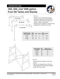 Oil Tank Chart For 500 Gallon Fuel Oil Tanks Anchorage Tankanchorage Tank