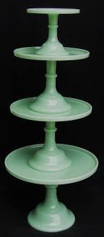 Mosser Jadeite Cake stands http://www.surlatable.com/product/