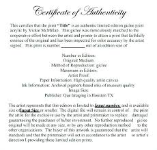 Template Of Certificate Of Authenticity Archives Certificate Of