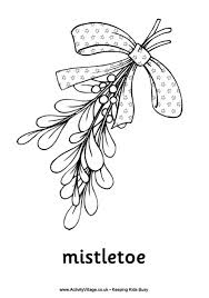 Small Picture Christmas Mistletoe Colouring Page