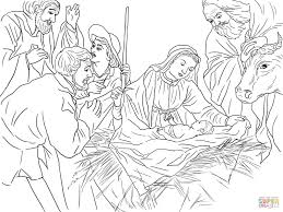 Imposing Decoration Christian Christmas Coloring Pages 57 Best