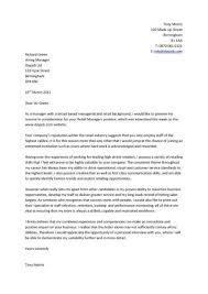 Cover Letter Example For Job Application - Chechucontreras.com