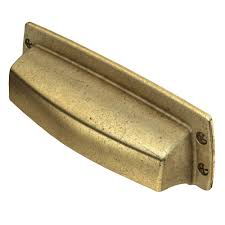 cup drawer pulls. (76mm) Bedford Brass Cup Drawer Pull Pulls