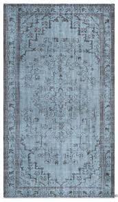 turquoise overdyed rug blue over dyed vintage rug overdyed turquoise area rug