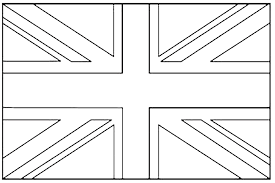 United Kingdom Union Jack Flags Coloring Pages For Kids To Print United Kingdom Flag Colouring PageL