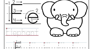 Free printable worksheet letter E for your child to learn and ...