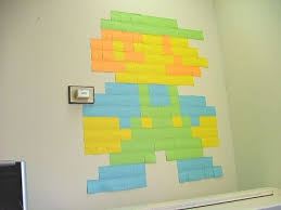 8 bit art with post its april heide kracik this is what i was talking about last night