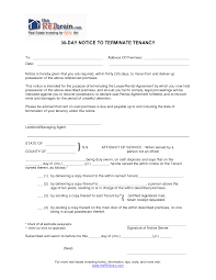 Unique Notice Of Lease Termination Letter From Landlord To Tenant
