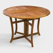 round wood danner folding table  world market