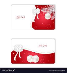 Gift Cards For Christmas Set Of Two Horizontal White Christmas Gift Card