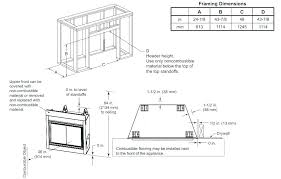 gas fireplace framing code corner ma