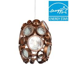 varaluz fascination 1 light hammered ore mini pendant