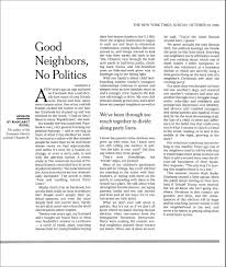 the world is too much us essay professor quality writing  essays margaret renkl good neighbors no politics by margaret renkl the new york times 22 2016