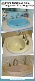 painted fiberglass sinks