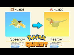 Pokemon Spearow Evolution Chart Pokemon Quest Shiny Spearow Evolves Into Shiny Fearow All