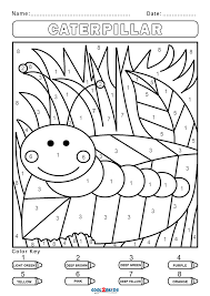 These printable coloring pages are also good for them not to be bored and to be artistic. Free Color By Number Worksheets Cool2bkids