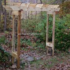 Small Picture How to build a rustic 6 garden arbor