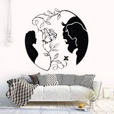 Urban House Design Vinyl Wall Panels Us 6 98 28 Off Home Decor Beauty And The Beast Vinyl Wall Decal New Design Rose Wall Sticker Inspired Love Wall Art Mural Bedroom Decals Ay1606 In